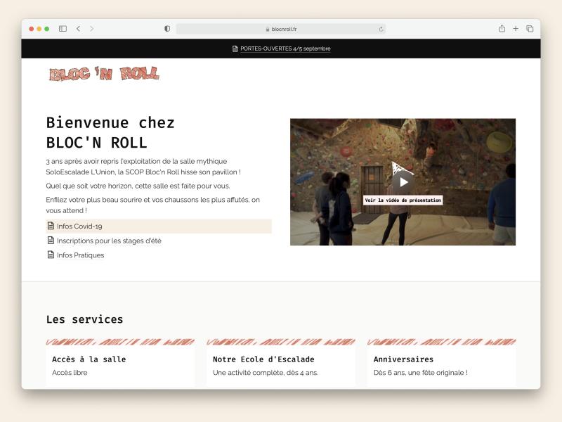 démo du site de Bloc'n Roll